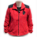 BSD Circle Head--fleece full-zip jacket, with zip-out lined sleeves