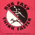 Run Fast Think Faster (left chest version)